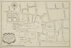 A plan of Deans Yard and other ground adjacent in Westminster by D. Donnelly